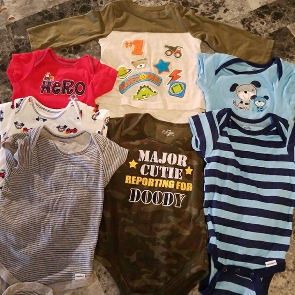 One Pieces Baby Boy Clothing Bundle 12 Month Onesies Poshmark